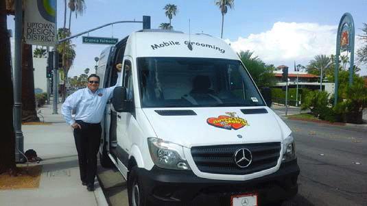 Tony Beside Van