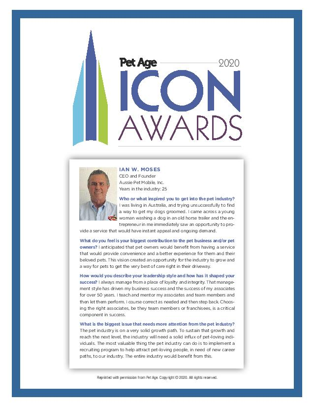 ICON Award Aussie Pet Mobile 2020