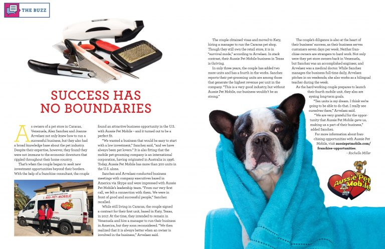 November 2020 issue of Franchise Directory Magazine–Aussie Pet Mobile
